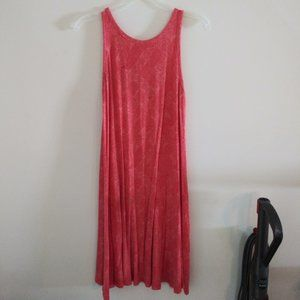 Old Navy Sleeveless Coral Boho Print Swing Dress